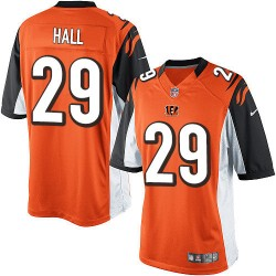 Cincinnati Bengals Leon Hall Official Nike Orange Limited Adult Alternate NFL Jersey