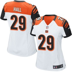 Cincinnati Bengals Leon Hall Official Nike White Game Women's Road NFL Jersey