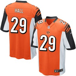Cincinnati Bengals Leon Hall Official Nike Orange Elite Youth Alternate NFL Jersey