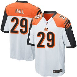 Cincinnati Bengals Leon Hall Official Nike White Elite Youth Road NFL Jersey