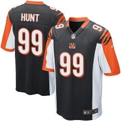 Cincinnati Bengals Margus Hunt Official Nike Black Game Adult Home NFL Jersey