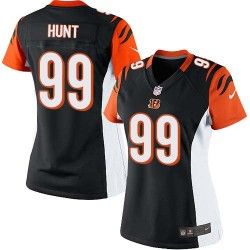 Cincinnati Bengals Margus Hunt Official Nike Black Limited Women's Home NFL Jersey