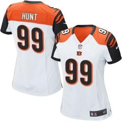 Cincinnati Bengals Margus Hunt Official Nike White Elite Women's Road NFL Jersey